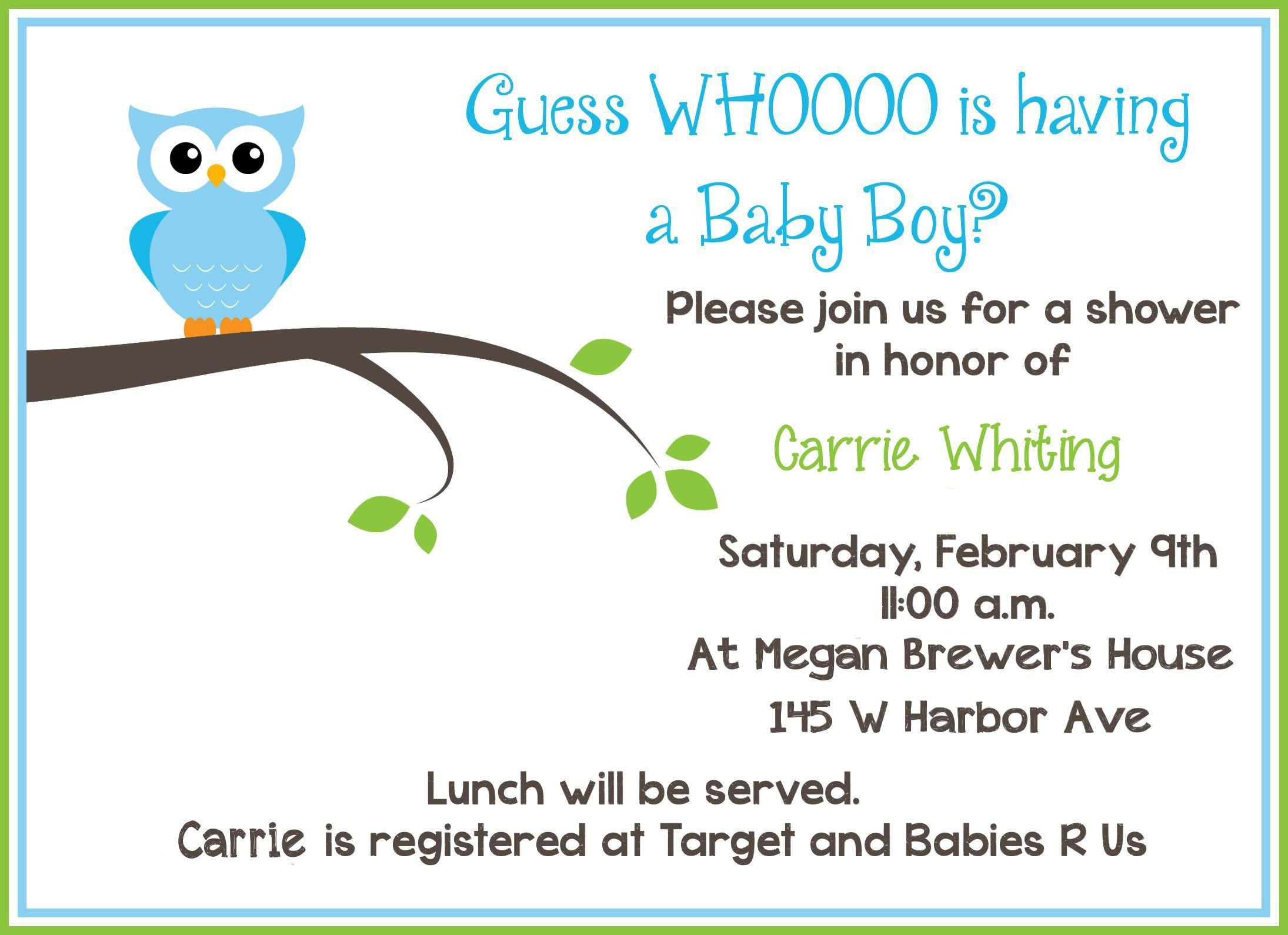 Free Shower Invitation Template Free Baby Invitation Template Free Baby Shower