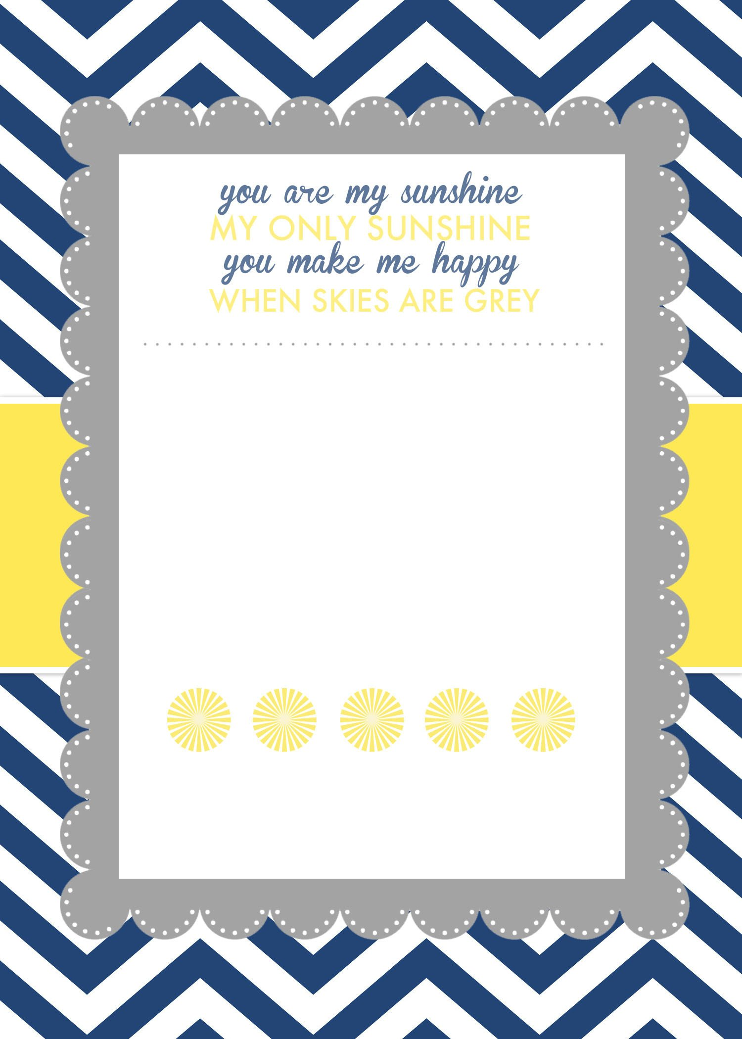 Free Shower Invitation Template You are My Sunshine Baby Shower Printables How to Nest