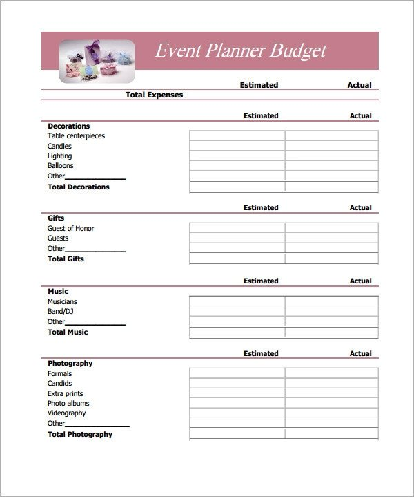 Free Simple Budget Template Sample Bud 11 Example format