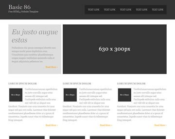 Free Simple Website Templates Basic 86 Free HTML5 Template HTML5 Templates