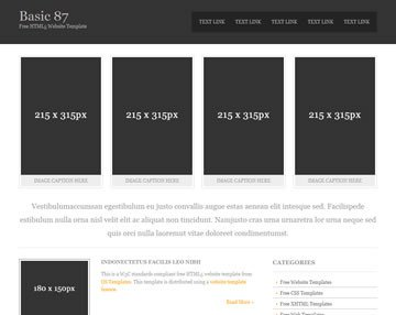 Free Simple Website Templates Basic 87 Free HTML5 Template HTML5 Templates