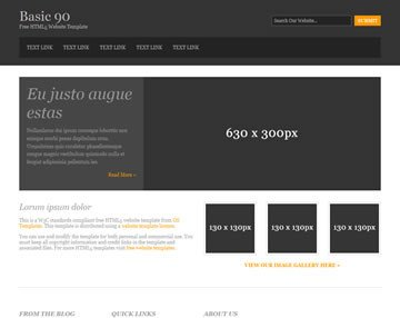 Free Simple Website Templates Basic 90 Free HTML5 Template HTML5 Templates