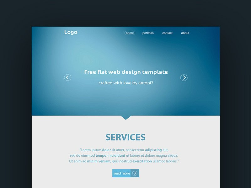 Free Simple Website Templates Simple Website Template Freebie Download Shop
