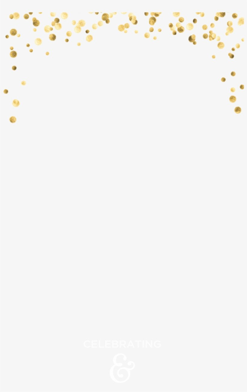 Free Snapchat Geofilter Template Gold Confetti Snapchat Geofilter Template Free Free