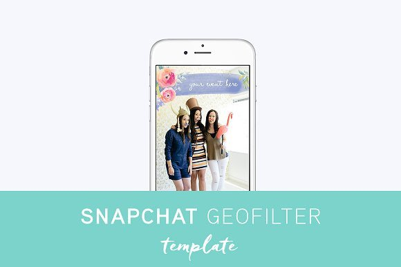 Free Snapchat Geofilter Template How to Design A Custom Snapchat Filter Creative Market Blog