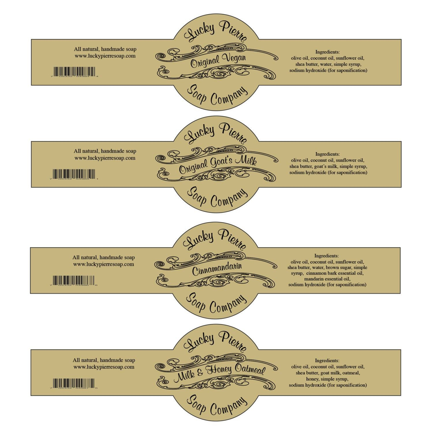 Free soap Label Templates Free Printable Cigar Band soap Label Template …