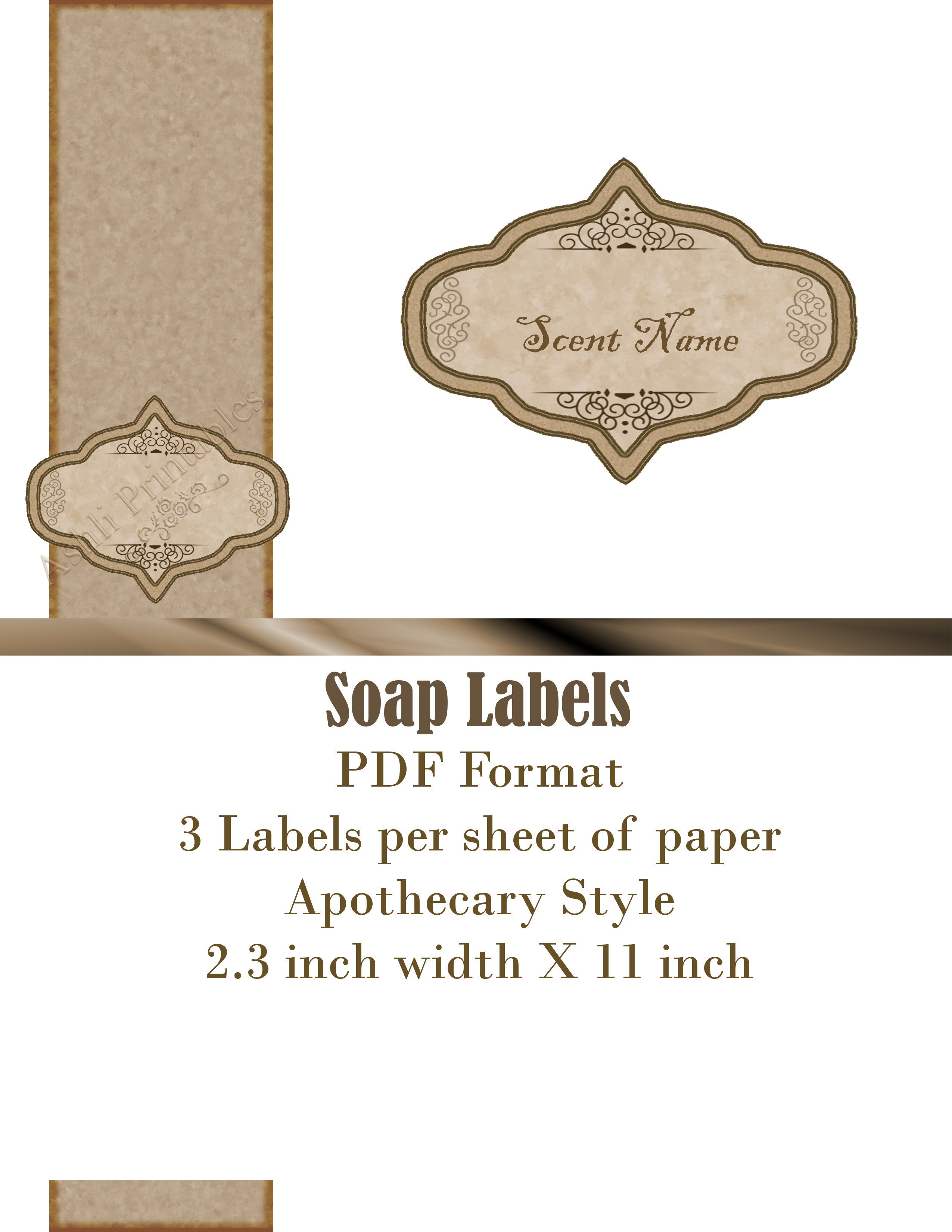 Free soap Label Templates Printable Labels ashlisoapblog