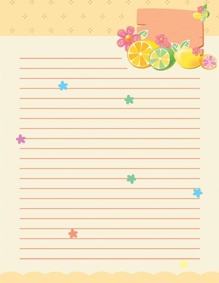 Free Stationery Paper Templates Free School Writing Paper Template with Green Hearts and