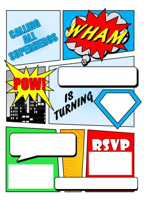 Free Superhero Invitation Template 12 Free Printable Blank Superhero Birthday Invitation