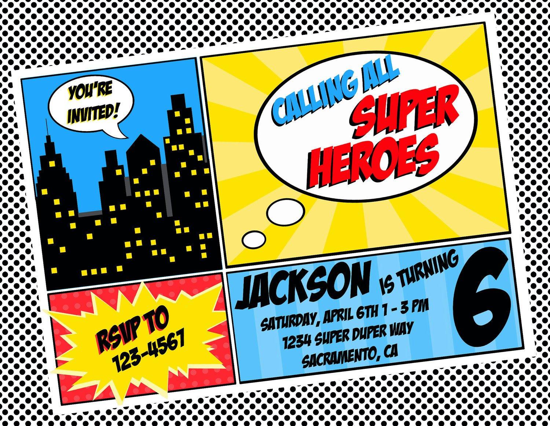 Free Superhero Invitation Template Diy Printable Invitation Super Hero