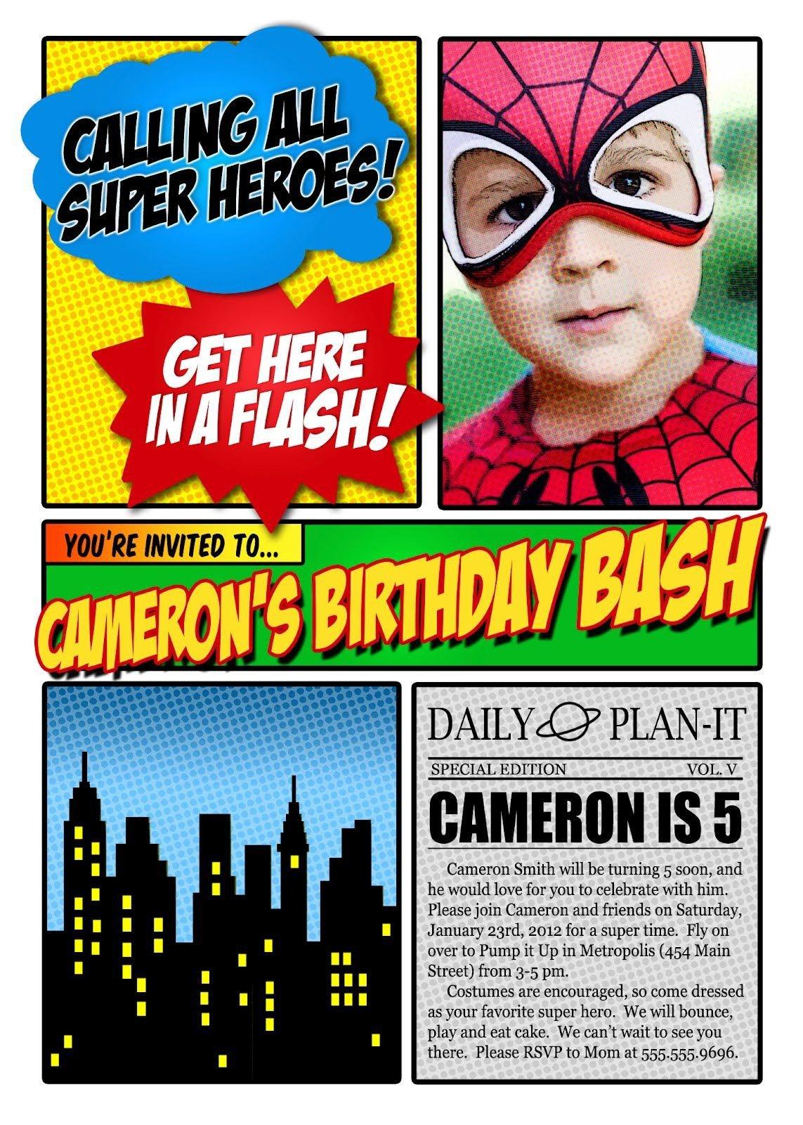 Free Superhero Invitation Template Free Superhero Invitation Maker Invitation