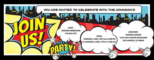 Free Superhero Invitation Template Invitations Free Ecards and Party Planning Ideas From Evite