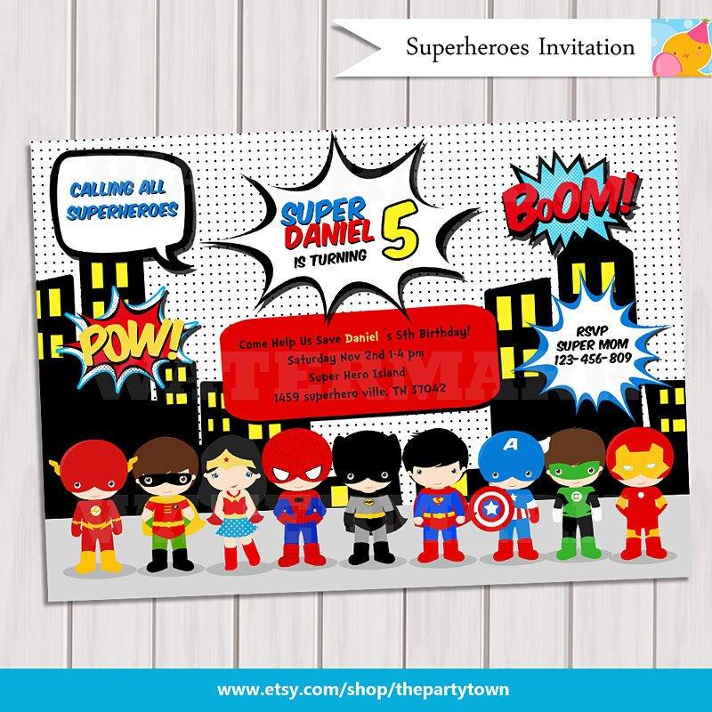 Free Superhero Invitation Template Super Hero Birthday Party Pop Art Superhero Invitation