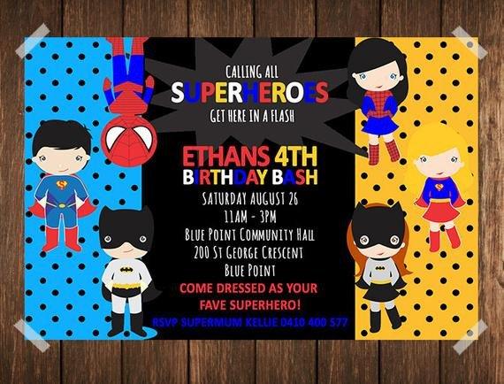 Free Superhero Invitation Template Superhero Birthday Invitation Superhero Invitation