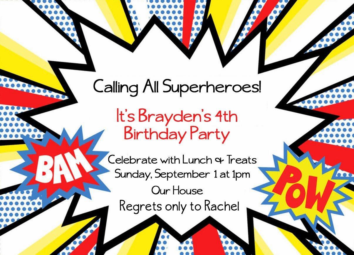 Free Superhero Invitation Template Superhero Invitation Templates