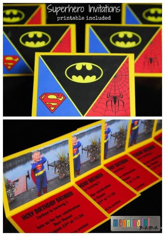 Free Superhero Invitation Template Superhero Invitations Printable Included