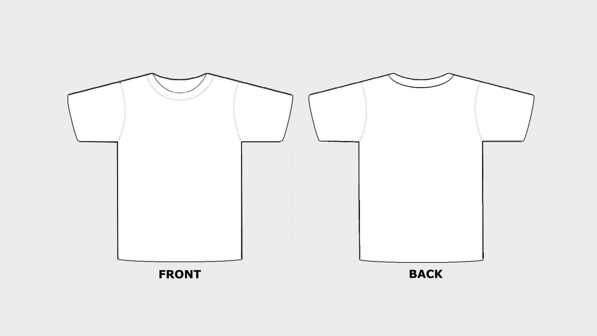 Free T Shirt Template Blank Tshirt Template Printable In Hd Hd Wallpapers