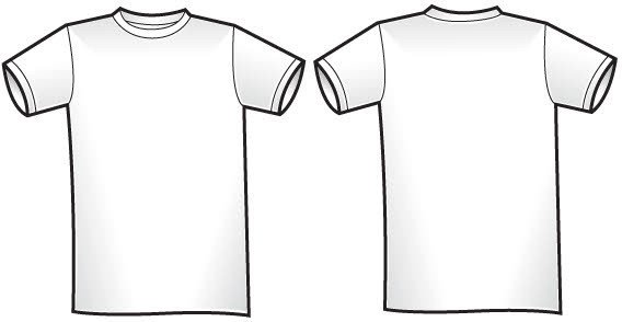 Free T Shirt Template Free Of Twosided T Shirt Template Free Vector
