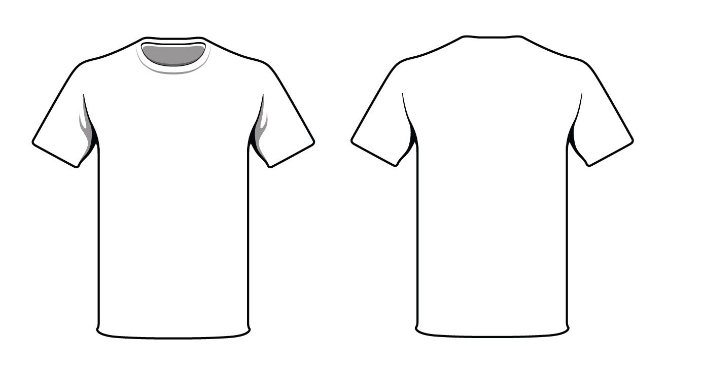 Free T Shirt Template T Shirt Vector Template Clipart Best
