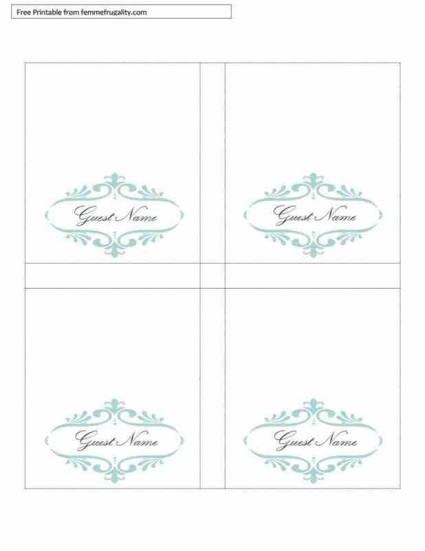 Free Table Tent Template Free Printable Table Tents Template