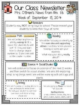 Free Teacher Newsletter Templates Best 25 Newsletter Template Free Ideas On Pinterest