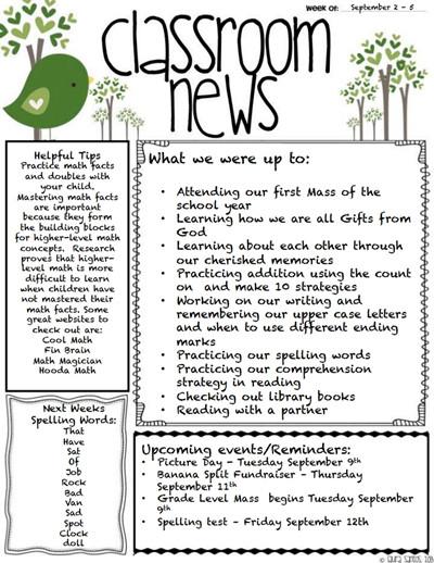 Free Teacher Newsletter Templates Classroom Newsletter Template Download Create Edit