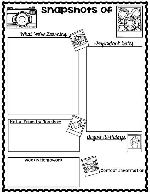 Free Teacher Newsletter Templates Free Monthly Calendars and Newsletter Templates Finally