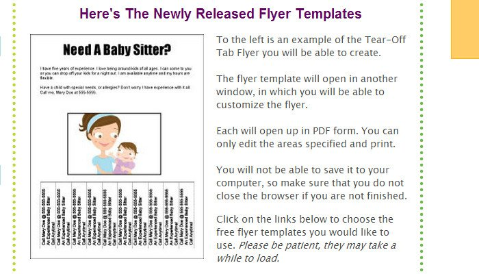 Free Tear Off Flyer Template 5 Pull Tab Flyer Templates