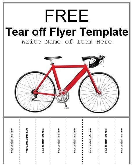 Free Tear Off Flyer Template 8 Free Sample Tear F Flyer Templates Printable Samples
