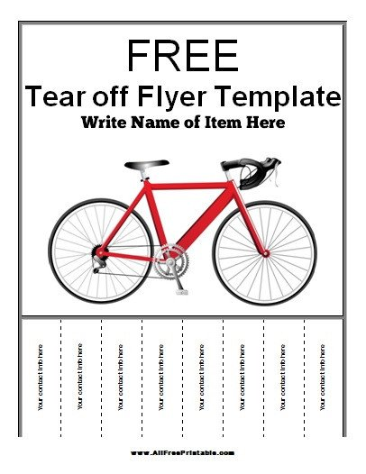 Free Tear Off Flyer Template Tear F Flyer Template Free Printable