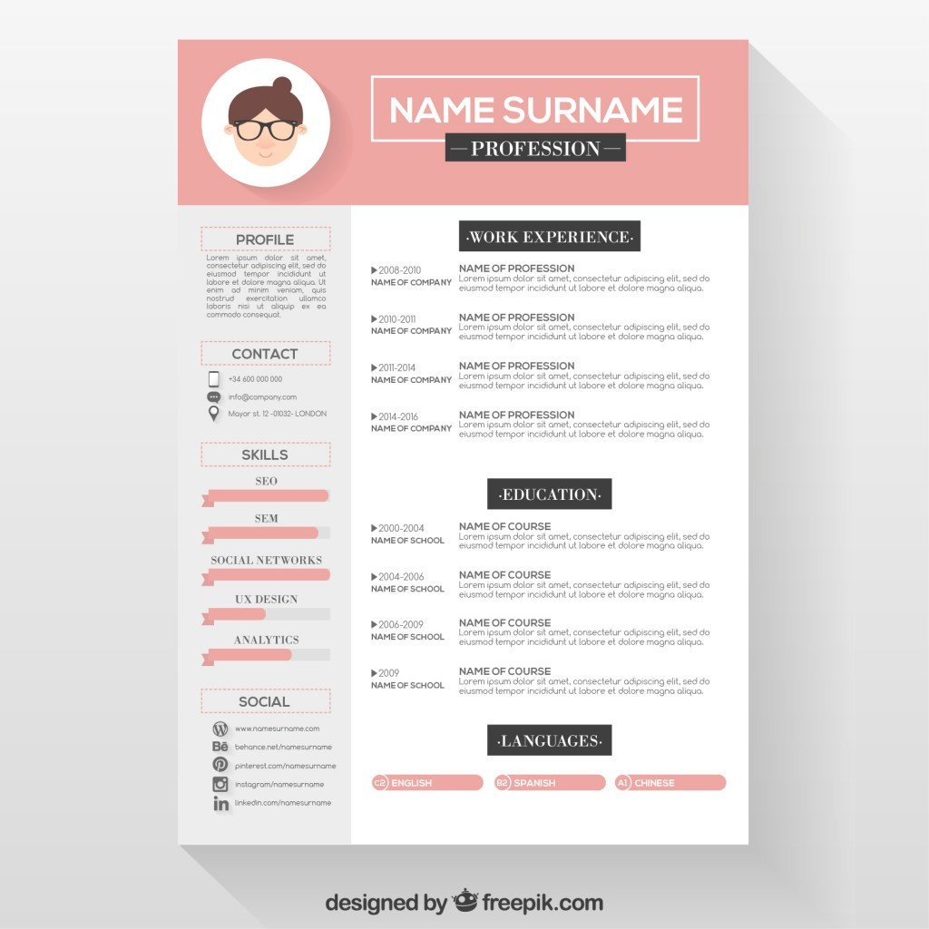 Free Template for Resume 10 top Free Resume Templates Freepik Blog Freepik Blog