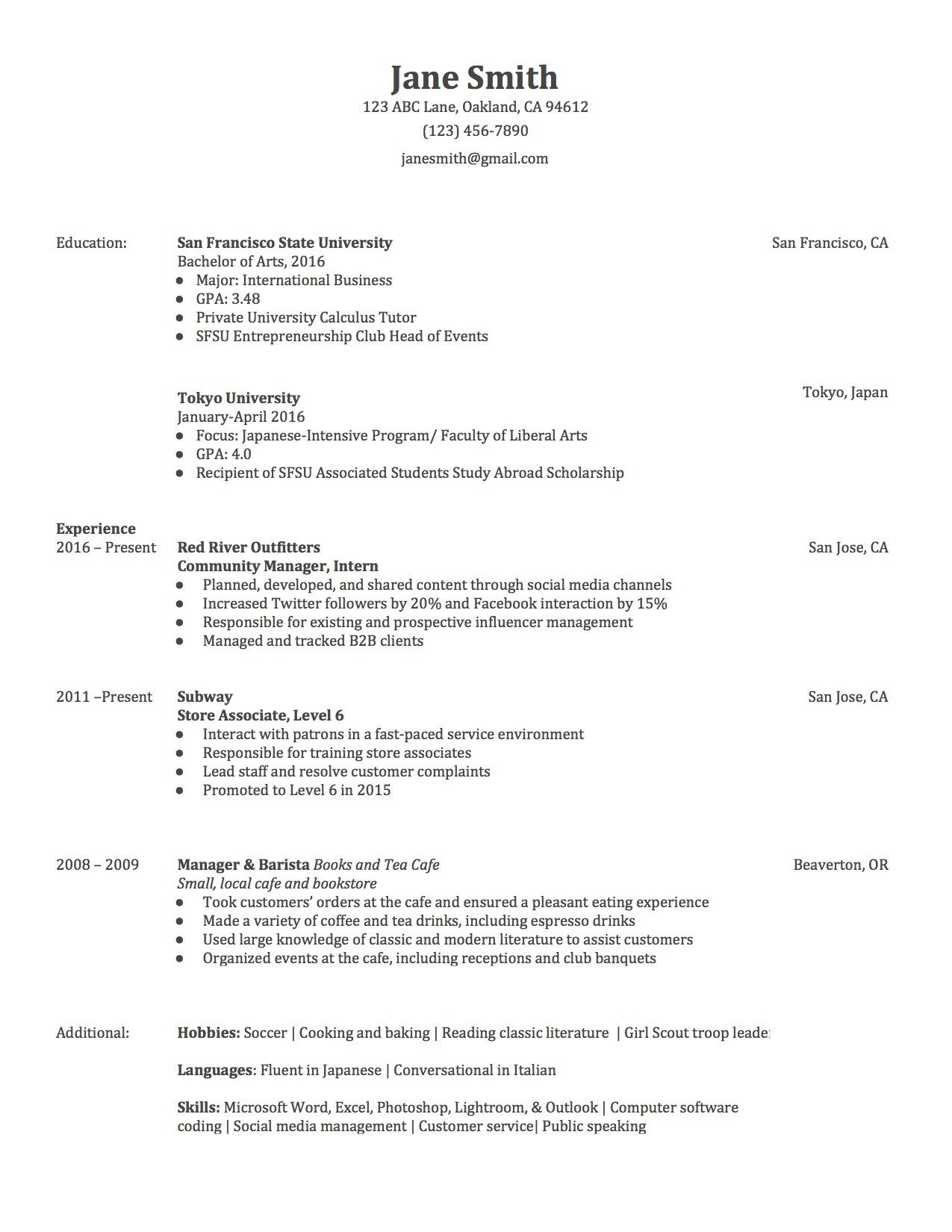 Free Template for Resume 3 Actually Free Resume Templates Localwise