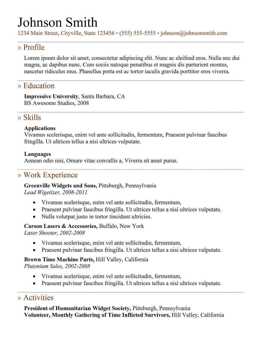 Free Template for Resume 9 Best Free Resume Templates for Freshers