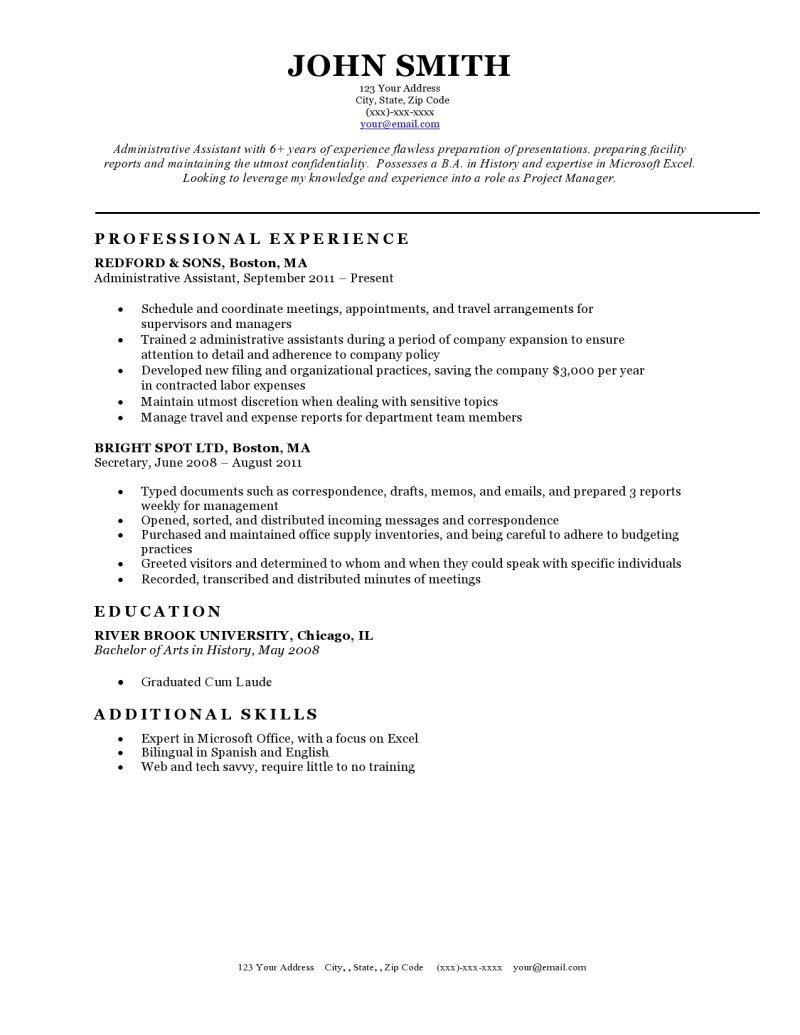 Free Template for Resume Expert Preferred Resume Templates