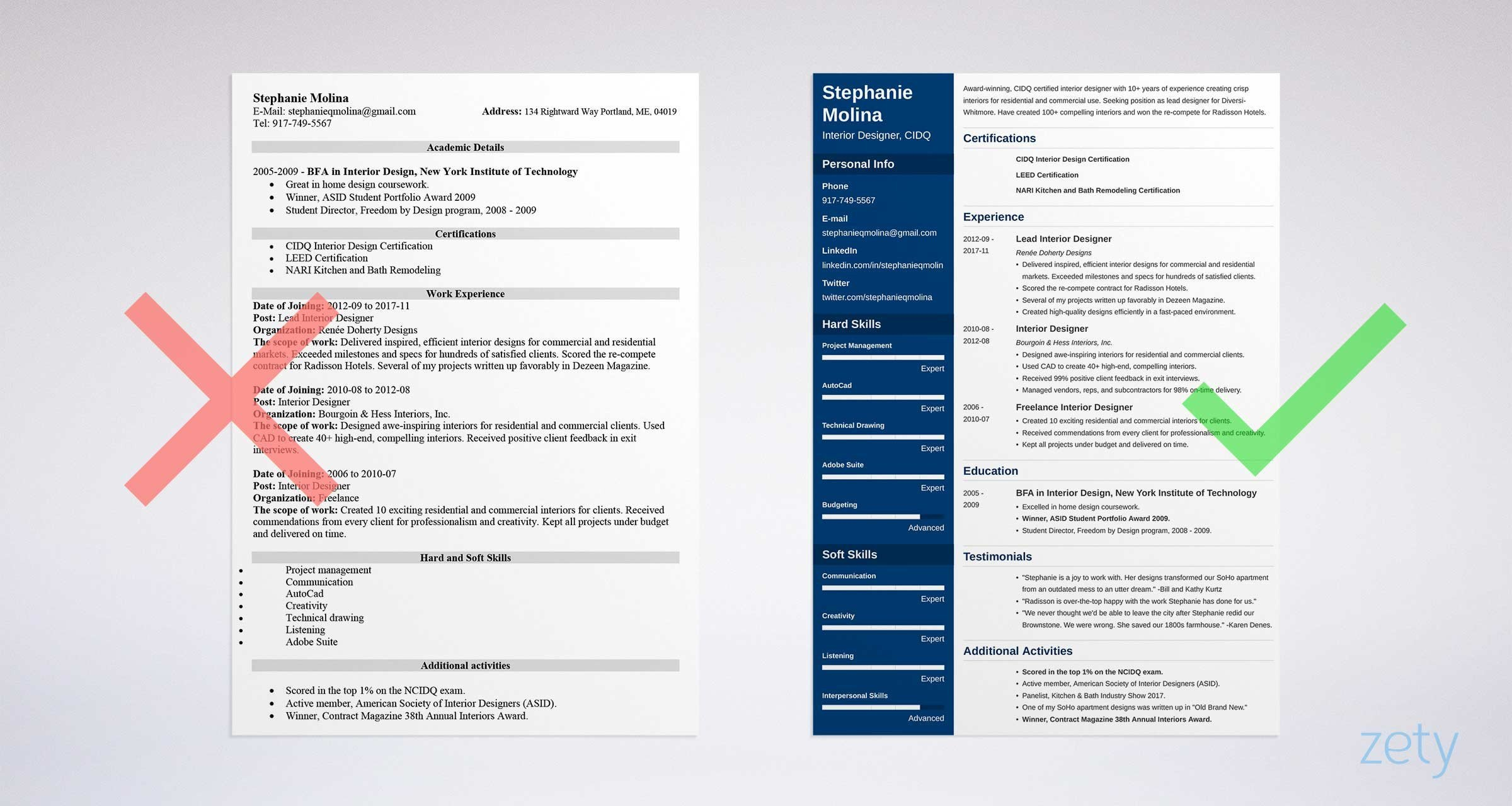 Free Template for Resume Free Resume Templates 17 Free Cv Templates to Download & Use