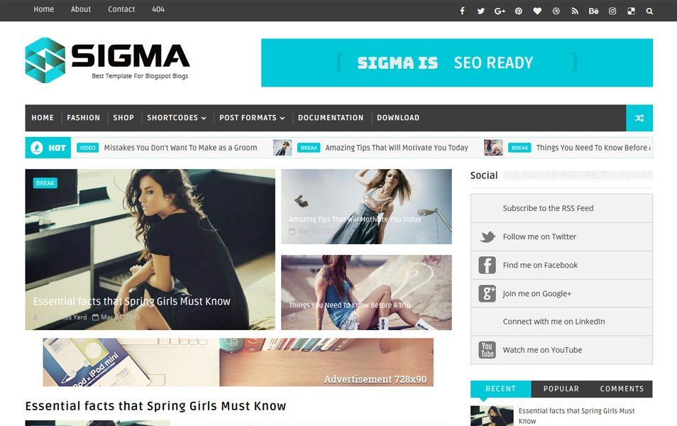 Free Templates for Blogger 300 Best Free Responsive Blogger Templates 2018 Css Author