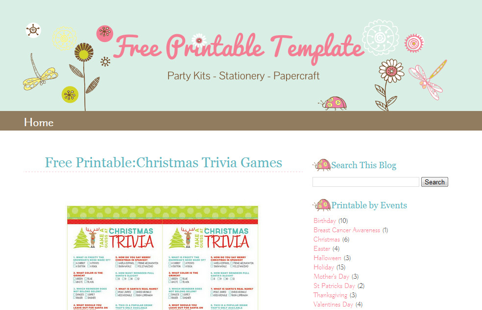 Free Templates for Blogger Blogger Template Lady Bug