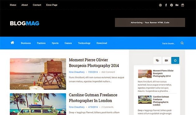 Free Templates for Blogger Blogmag Clean & Responsive Blogger Template