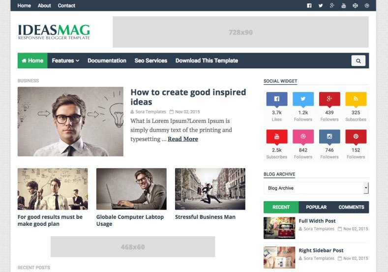 Free Templates for Blogger Ideas Mag Blogger Template • Templates 2019