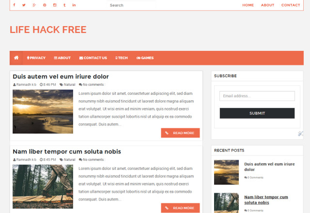 Free Templates for Blogger Lifehack Free Responsive Blogger Template theme