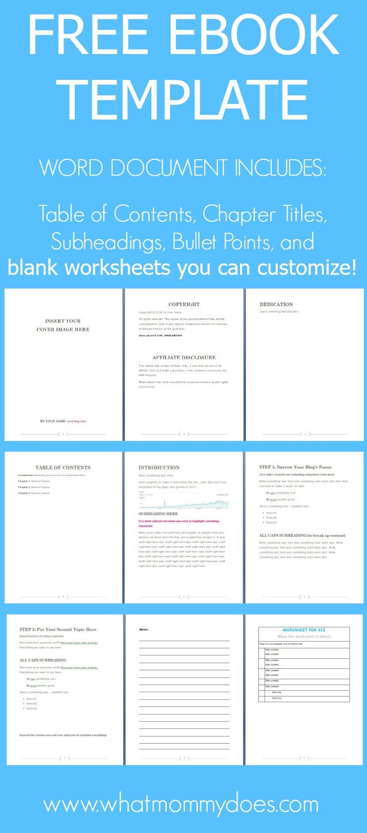 Free Templates for Microsoft Word Free Ebook Template Preformatted Word Document What
