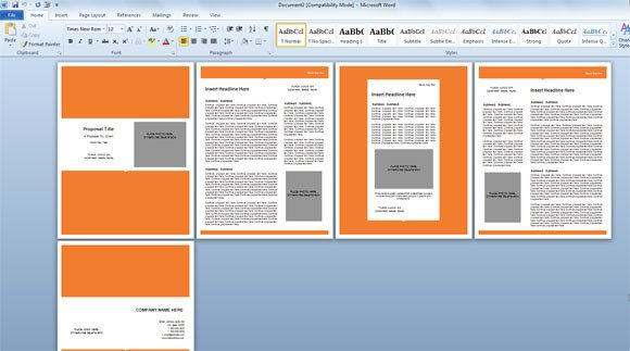 Free Templates for Microsoft Word Modern Proposal Template for Microsoft Word