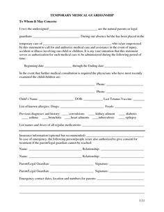 Free Temporary Guardianship form California Anyone Can Be Named A Temporary Guardian for A Child