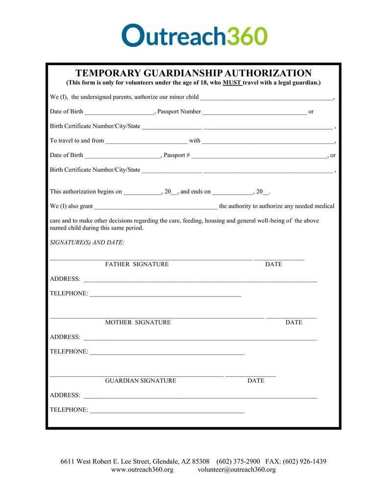 Free Temporary Guardianship form California Free Guardianship forms Free for Free Guardianship forms