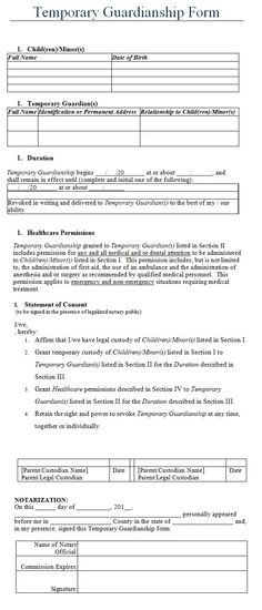 Free Temporary Guardianship form California Free Printable Power attorney General Legal forms