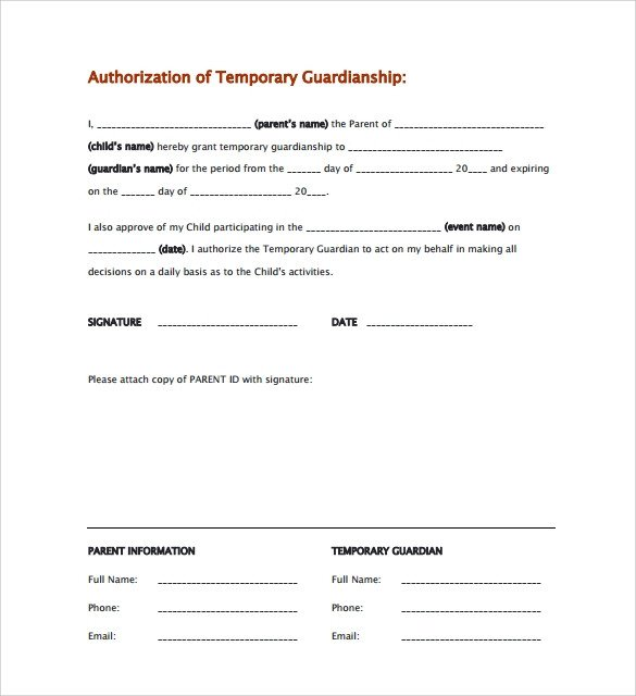 Free Temporary Guardianship form California New form for Temporary Medical Power Of attorney