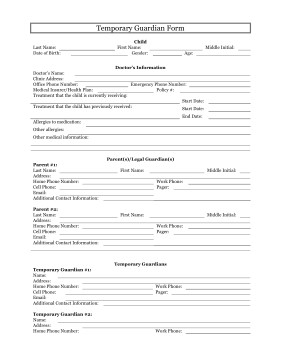 Free Temporary Guardianship form California Printable Temporary Guardianship form Legal Pleading Template