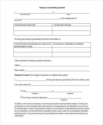 Free Temporary Guardianship form California Sample Legal Guardianship forms 9 Free Documents In