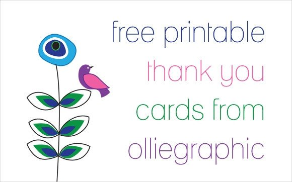 Free Thank You Card Template 11 Printable Thank You Card Templates Psd Ai