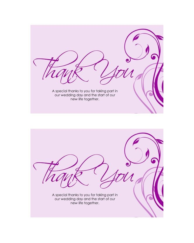 Free Thank You Card Template 30 Free Printable Thank You Card Templates Wedding